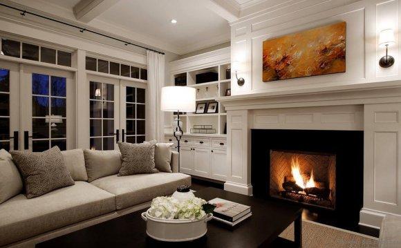 Красивые гостиные с камином