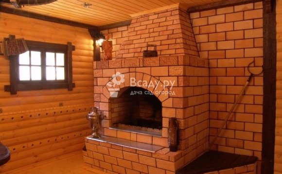 Печь-камин для дома из кирпича